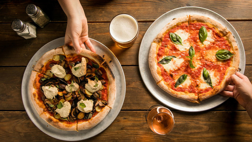 Our best-sellers: our Vegan & Margarita Pizzas, come in and try them today!