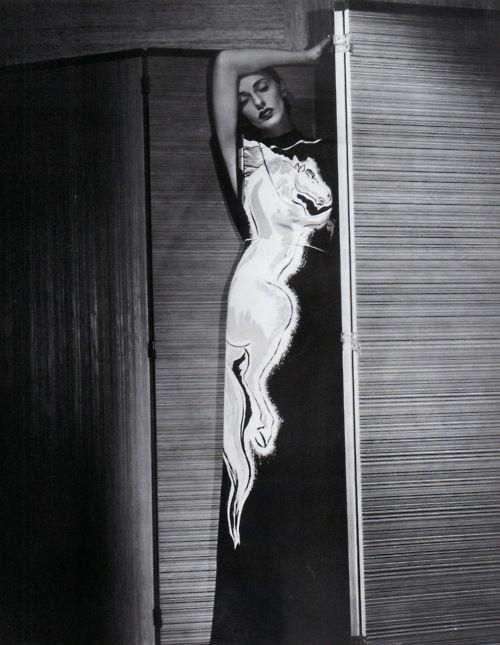 Gilbert Adrian, Roan Stallion Dress, 1945