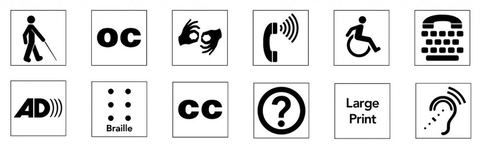 The copyright-free international access symbols