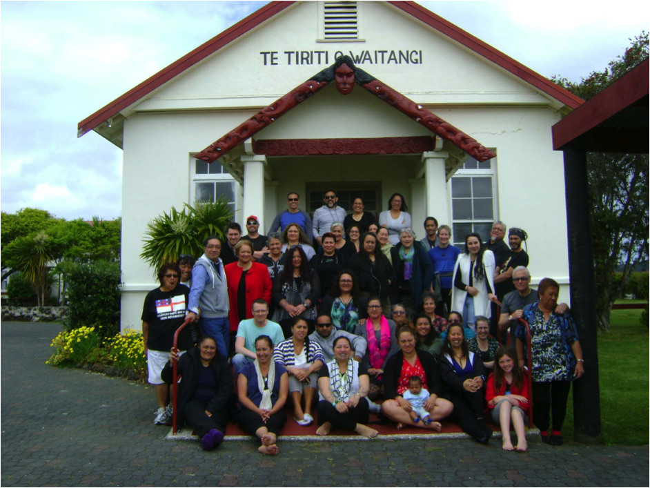 Kāhui Kaitiaki: Network of Māori staff working in NZ museums and art galleries at Waitangi Marae, 2015