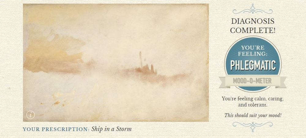 My result. A beautiful Turner AND a new word for the day.
