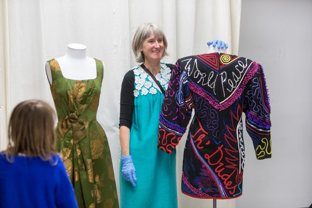 Hosting a Textile Store tour on Te Papa's Open Day, 2015