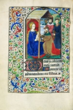 Book of Hours, f.63v, (184 x 133 mm), 15th century, Alexander Turnbull Library, MSR-02.