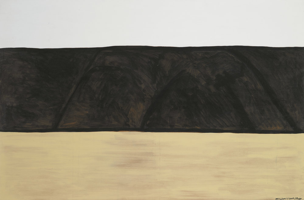 North Otago landscape 2  , 1967, Auckland, by Colin McCahon. Purchased 1969 from Wellington City Council Picture Purchase Fund. © Te Papa.   CC BY-NC-ND licence  . Te Papa (1969-0014-1)
