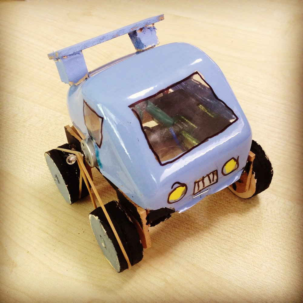 """TOA"" Motorised toy car by 13 year old (April 2015)"