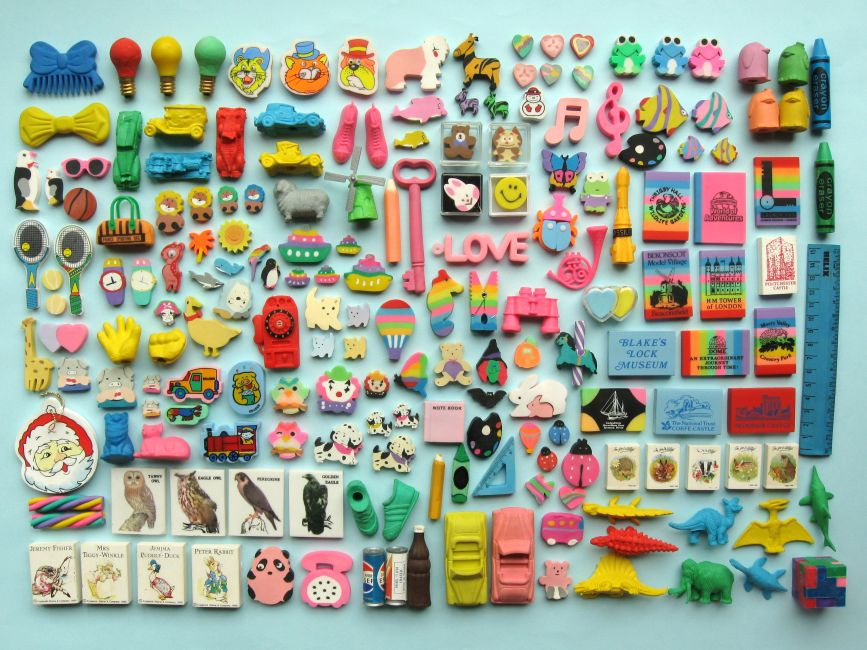 This is not my personal collection; mine was lost somewhere between childhood and puberty. But this collection has many of thesame items. http://bugsandfishes.blogspot.co.nz/2015/05/80s-child-my-eraser-collection.html