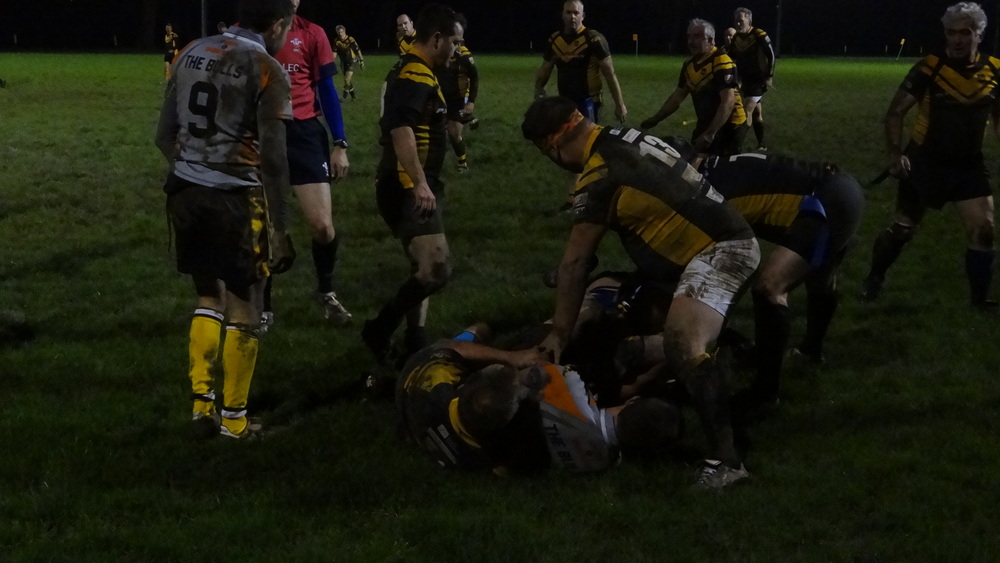Another ruck won by Jungle John, Pickles and John Ralph