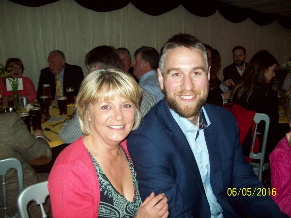 Denise Davies (the new club secretary) with Ryan Jones at the awards dinner