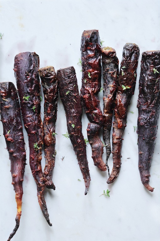 Oven Roasted Caramelised Carrots With Green Tahini Mint Sauce by Let It Be Cosy