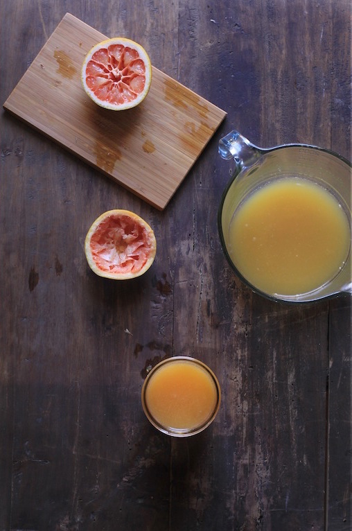 Grapefruit and pineapple juice by Let It Be Cosy