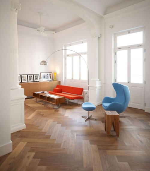 Engineered Parquet Flooring 20x100x500 Post Rock And Wood