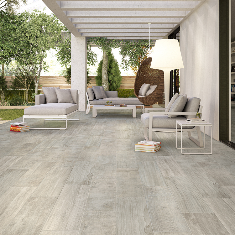 Capri Blonde Porcelain Tile Post Rock And Wood