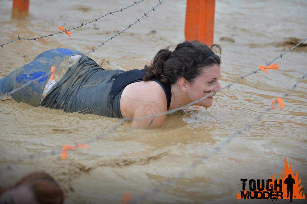 4 out of 5 of my teammates during the Kiss of Mud - check out those awesome pictures!