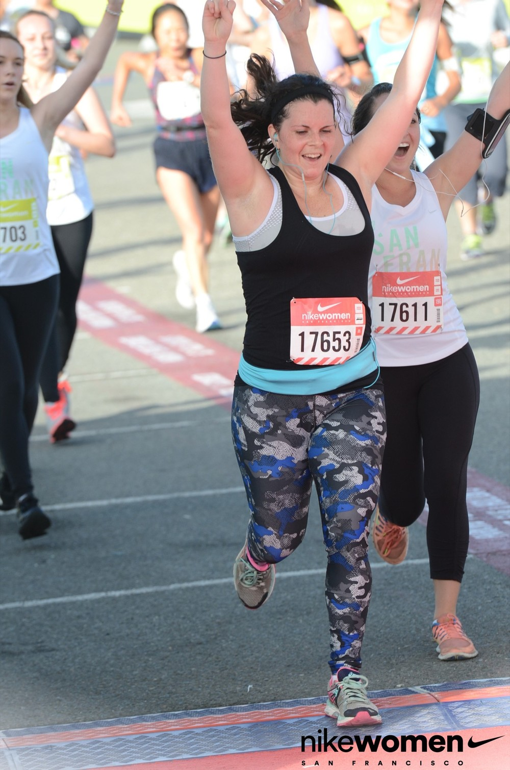 Crossing the finish line - and it felt so good!