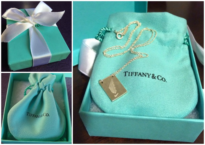 The infamous little Tiffany's box and finisher's necklace!