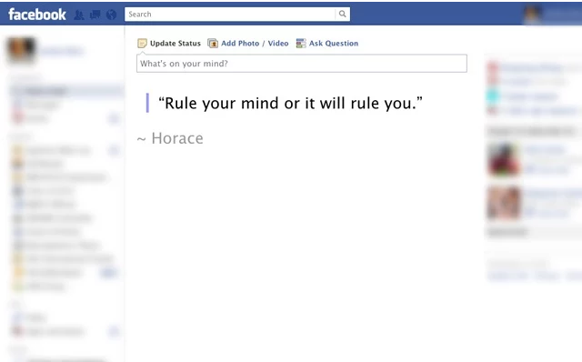 No more getting lost in your Facebook newsfeed - News Feed Eradicator replaces the black hole of facebook with some positive motivation!