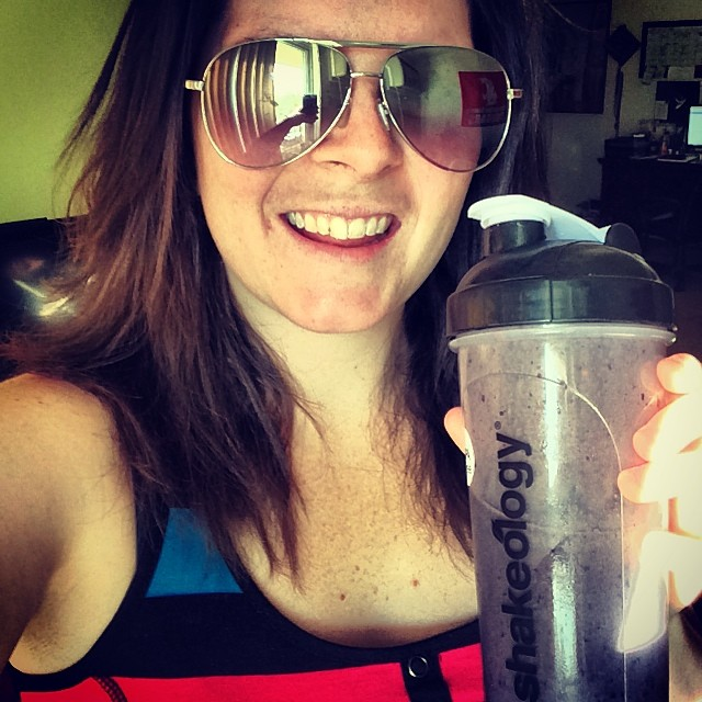 Probably my first Shakeology selfie for my challenge group! Enjoying the Supa Tropical!