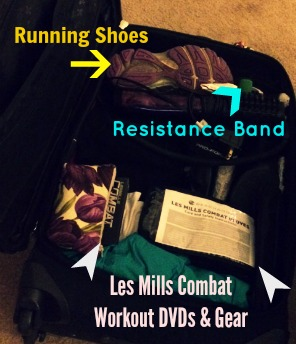 Home for the Holidays meant packing not only my workout DVDs and running shoes, but a resistance band!