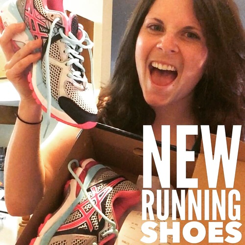 I got new running shoes today...and I got them for a reason! My official announcement to my facebook community that I would be running my first half in August!