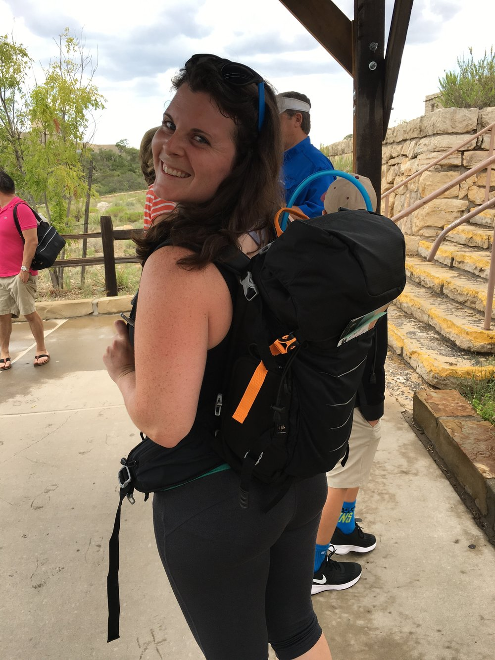 Carlsbad Caverns bound in New Mexico! My pack came with me everywhere on this trip! Even to the South Rim of the Grand Canyon - below!