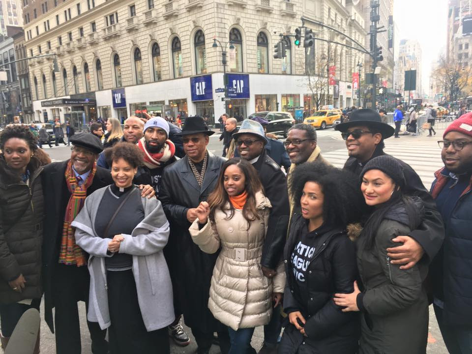 "Members of the Justice Now! Coalition stand together following today's ""Economic Shutdown 2.0"" demonstration."