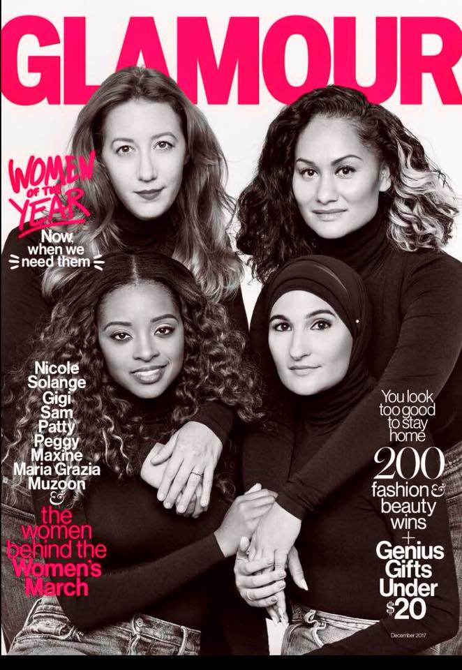 The  r esistance is alive and well...and spreading! The Gathering/ Justice League NYC  and  Women's March  leaders Bob Bland, Carmen Perez, Tamika Mallory and Linda Sarsour were honored as 2017 Women of the Year in Glamour Magazine for raising the voices of women and communities of color.  Read here .