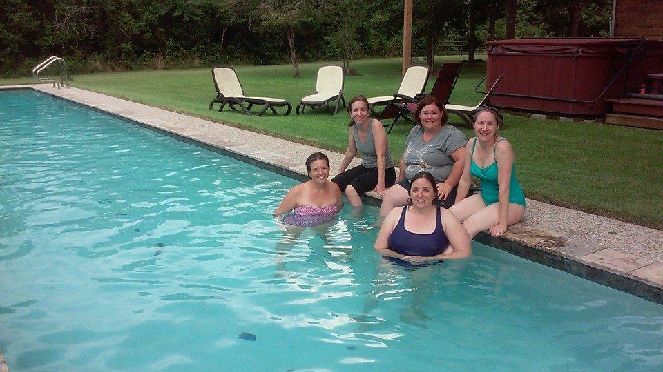 Birthday Girls by Pool