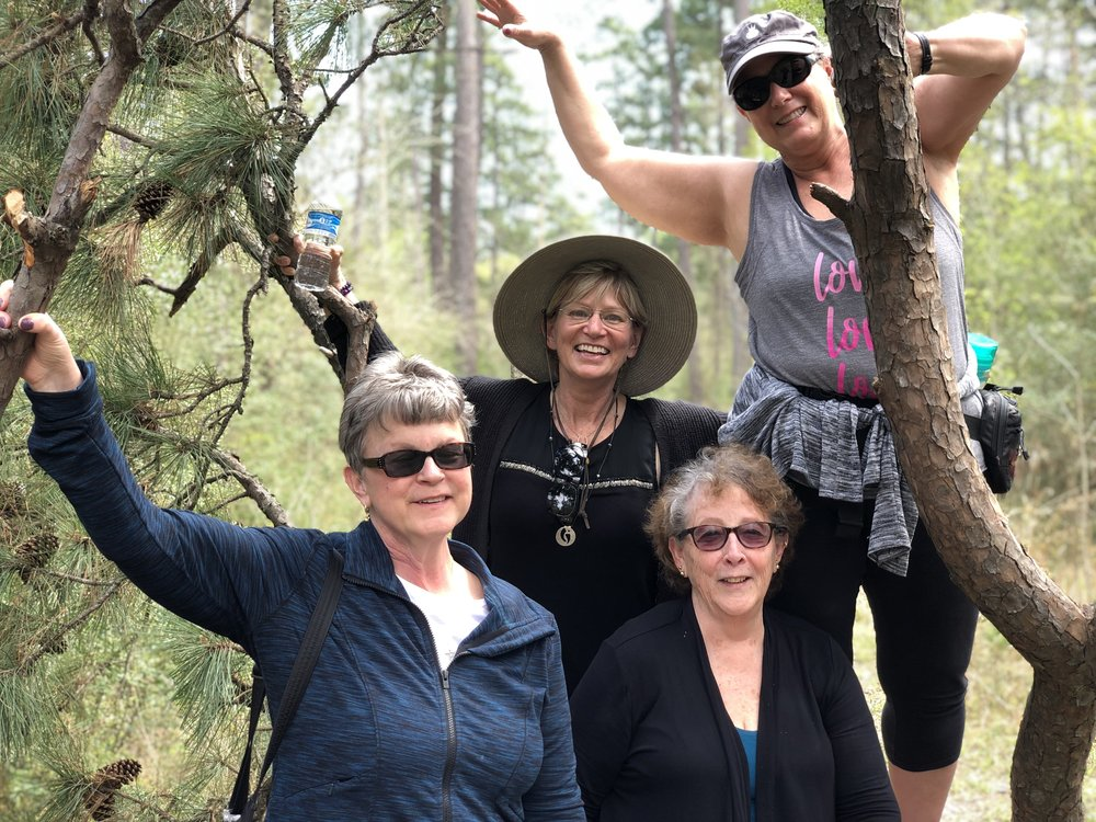 NEST retreaters; Patricia, Kathy, Darlene, Jane