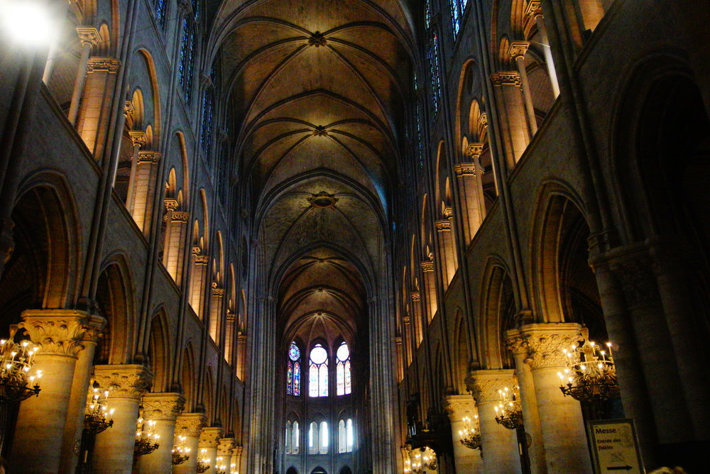 Inside Notre Dame we listened to a children's choir fill the room with beautiful music