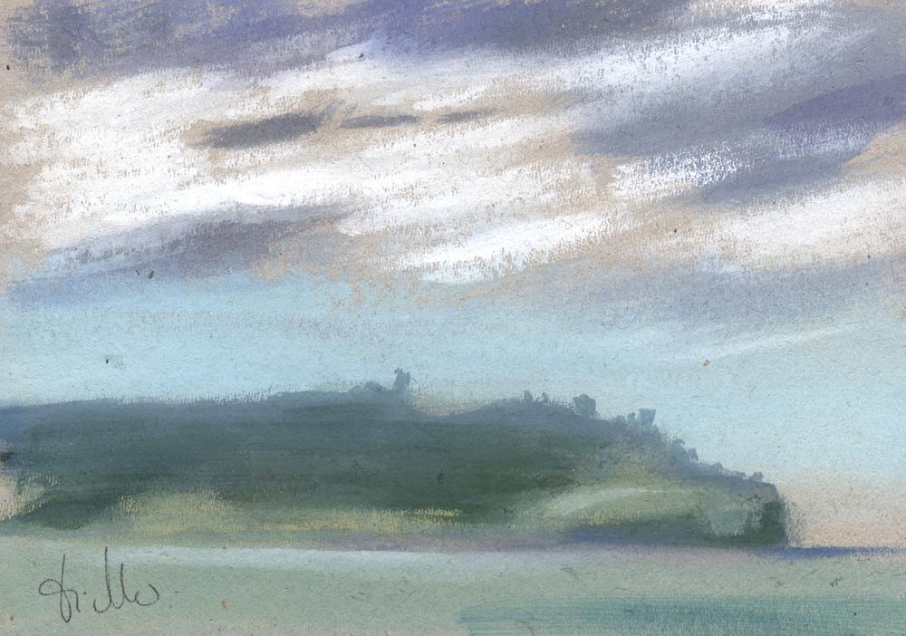 brouillard sur la pointe de Suzac