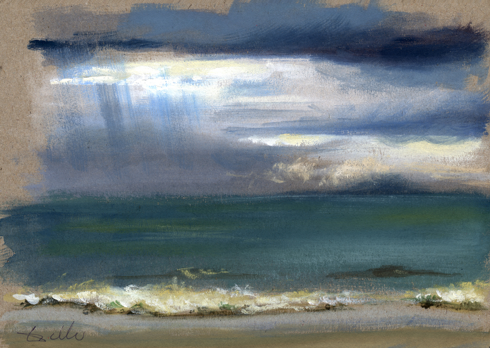 pluie sur la grande plage de Royan