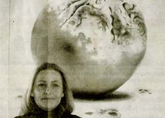 Sabine Eichler expose ses oeuvres dans la galerie Rivaud