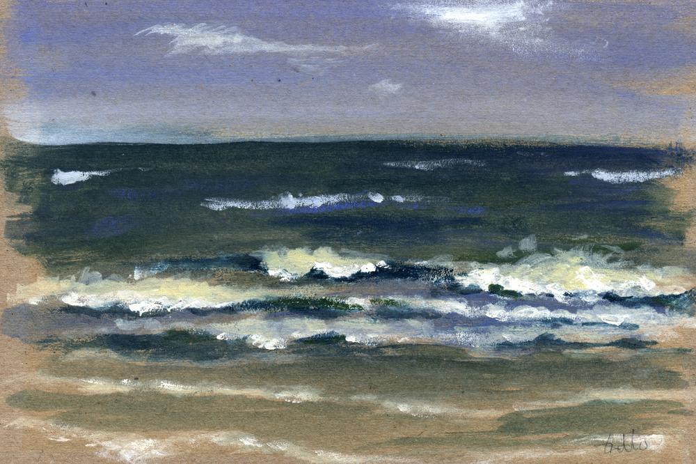 mer montée à Royan