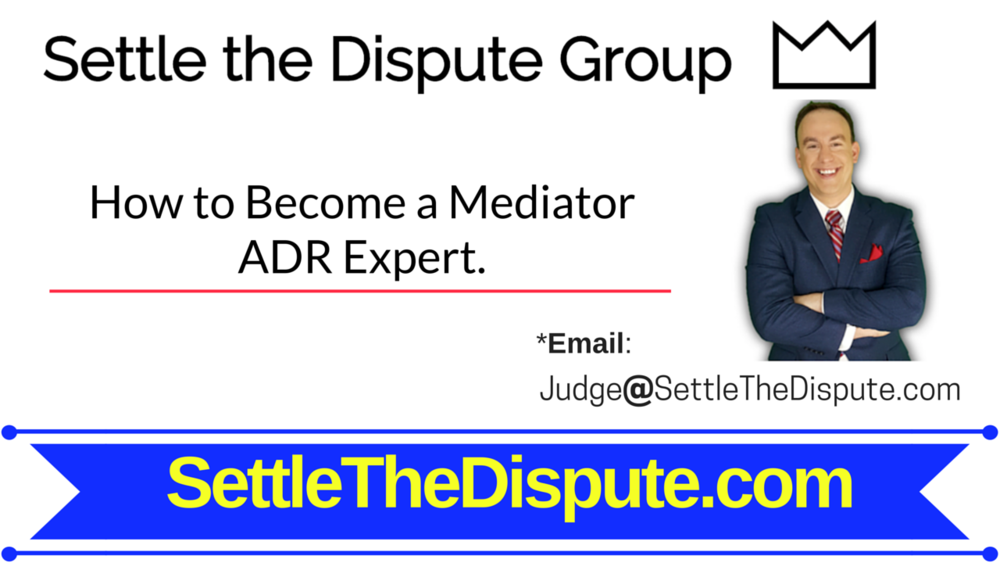 Learn how to become a mediator and practice legal mediation through alternative dispute resolution (ADR). SettleTheDispute.com will help you.