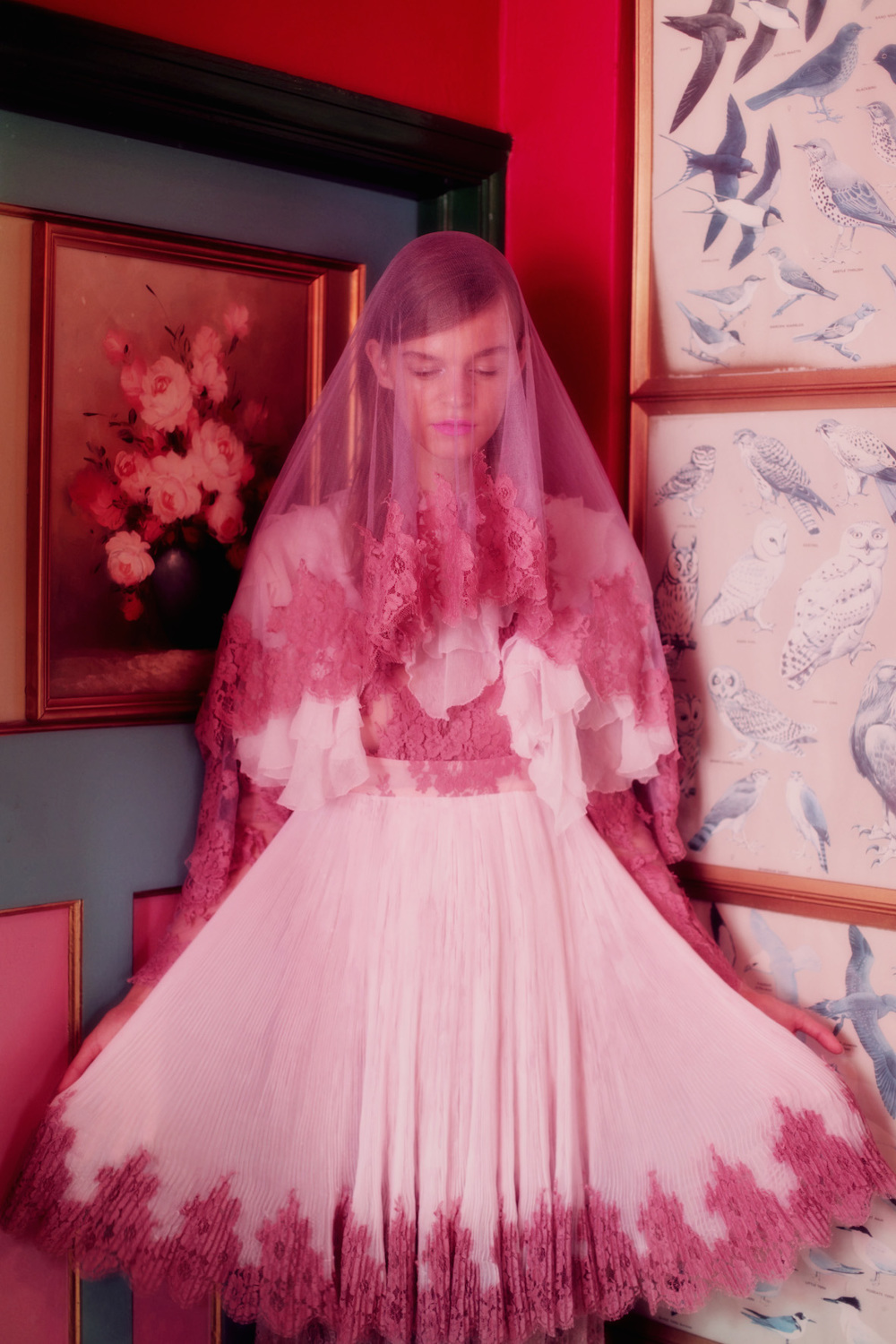 as styled by linda marina portman for crash magazine. the love is wearing meadham & kirchhoff