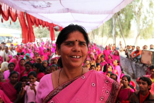 "Sampat Pal, leader of India's ""Gulabi Gang."" (Amana Fontanella-Khan)"