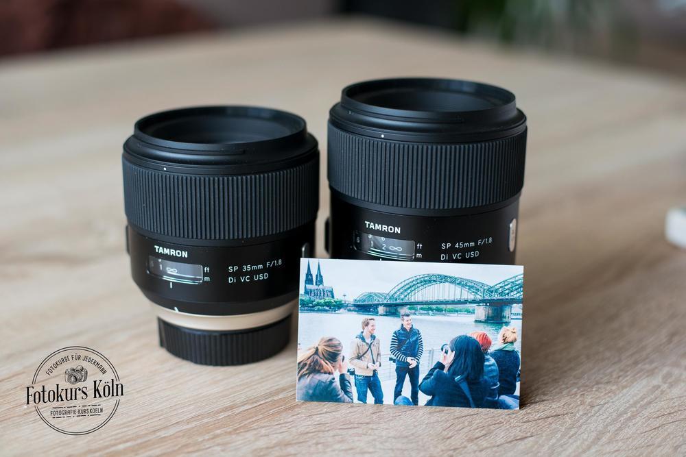Diese 2 Objektive von Tamron durften die Teilnehmer mit Nikon- oder Canon-Kamera während des Kurses ausprobieren.