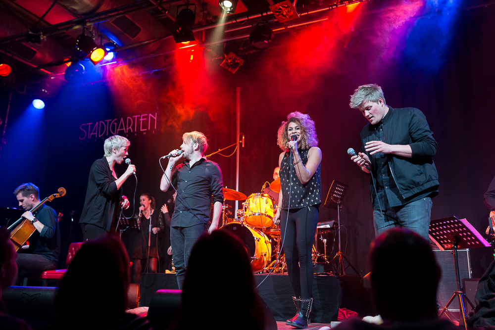 Konzert im Stadtgarten der Blind Audition Band