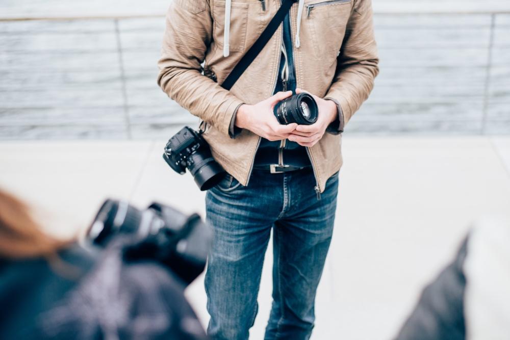 David Grigo beim Anfängerfotokurs in Köln
