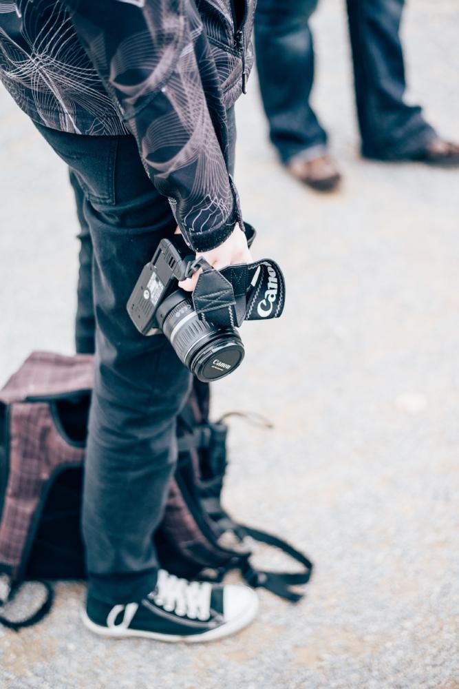 Eine Canon Kamera beim Fotoworkshop