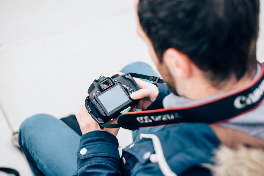Canon Kamera eines Teilnehmer beim Fotokurs