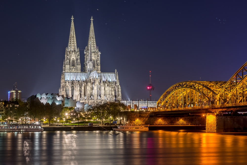 Ein Ergebnis des Nachtfotografiekurses in Köln Deutz