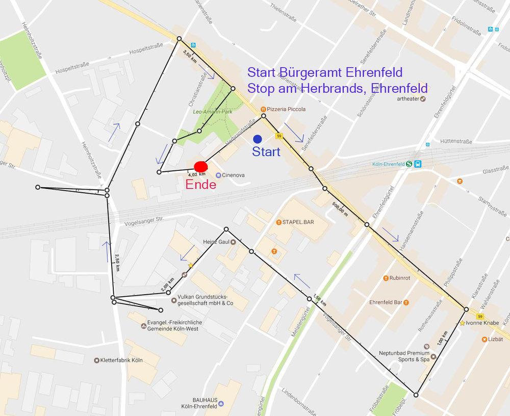 Photowalk Strecke Ehrenfeld 2017