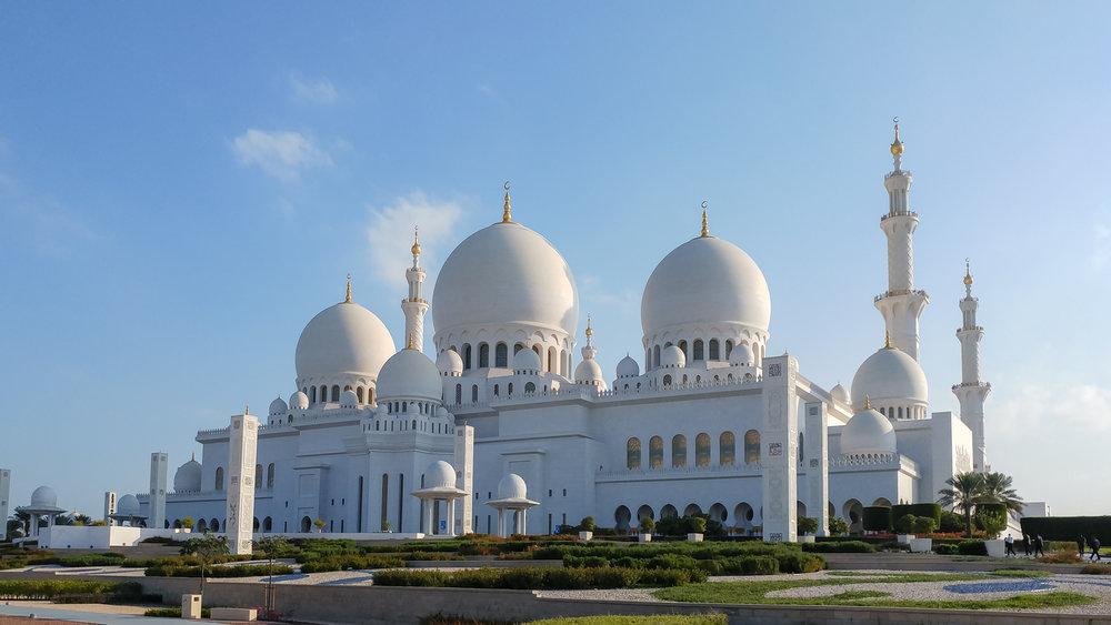 Große Moschee mit Handy