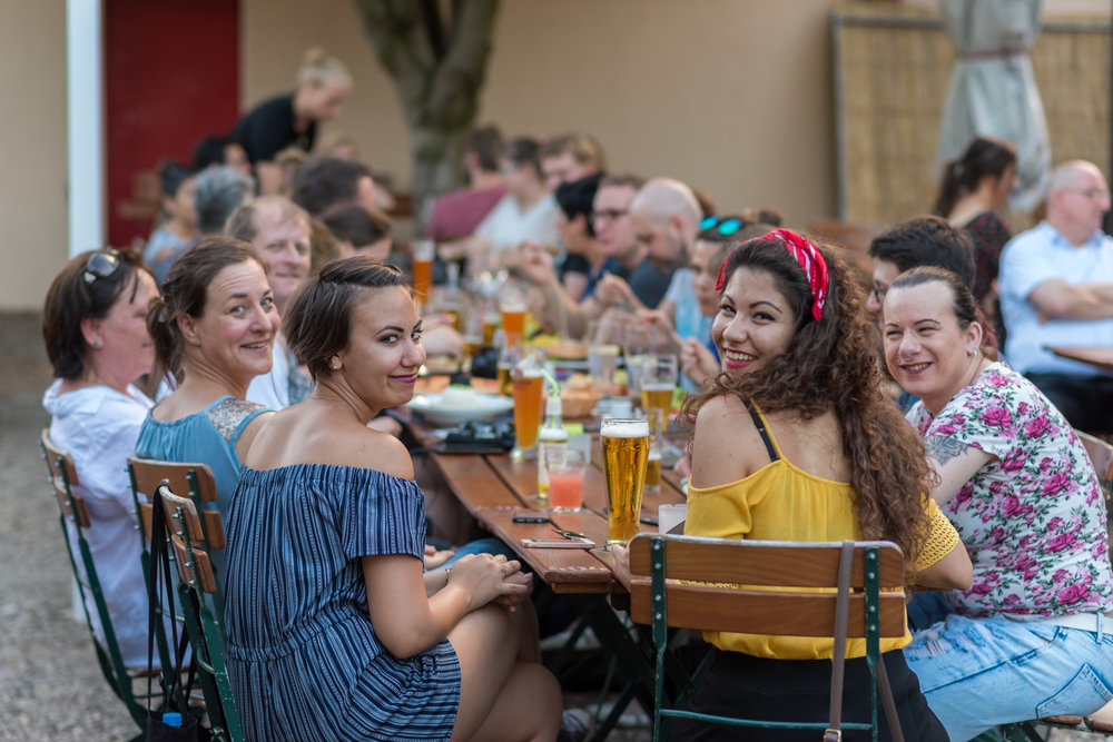 Outdoor im Biergarten