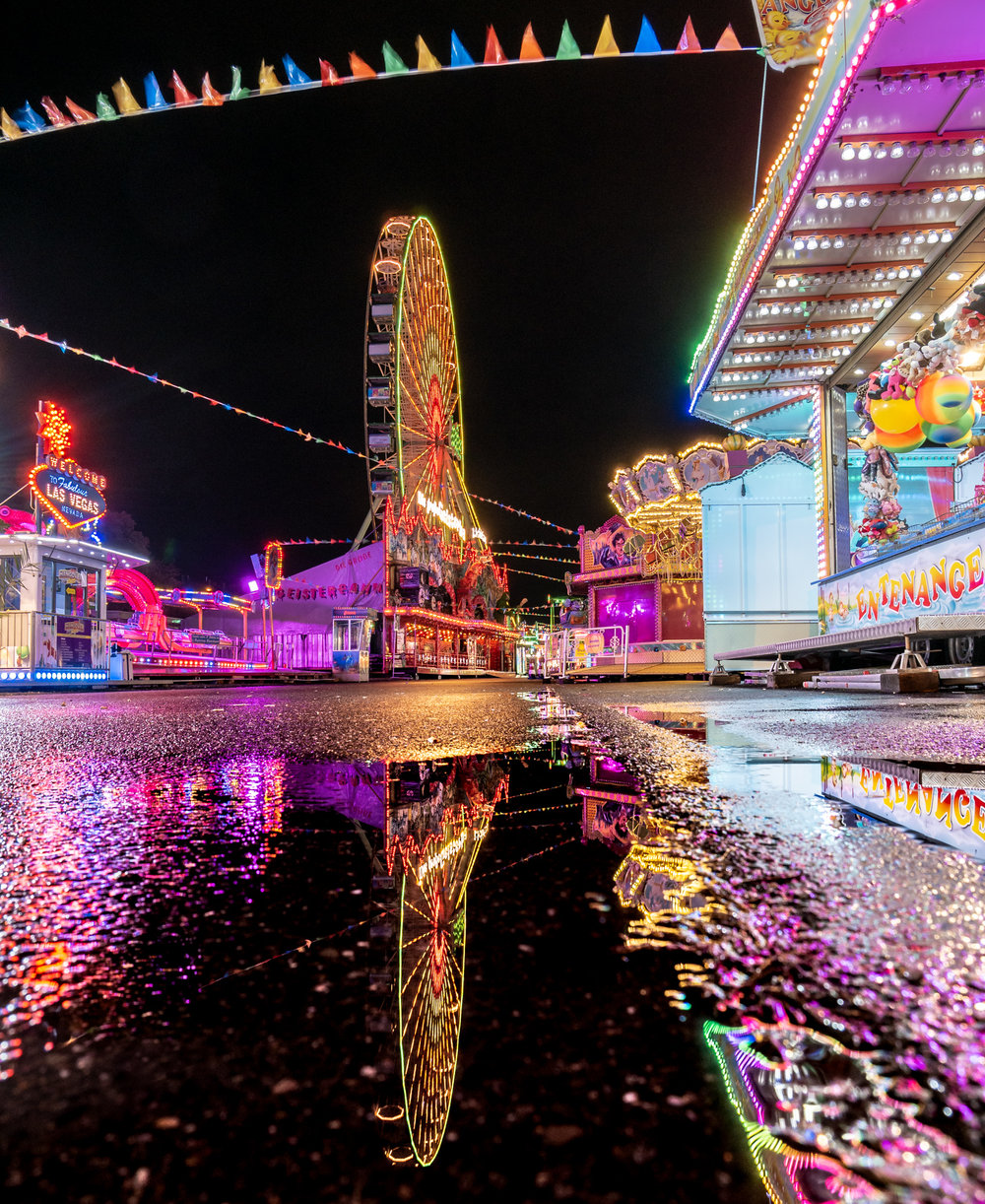 Kirmes Riesenrad Nacht 2018