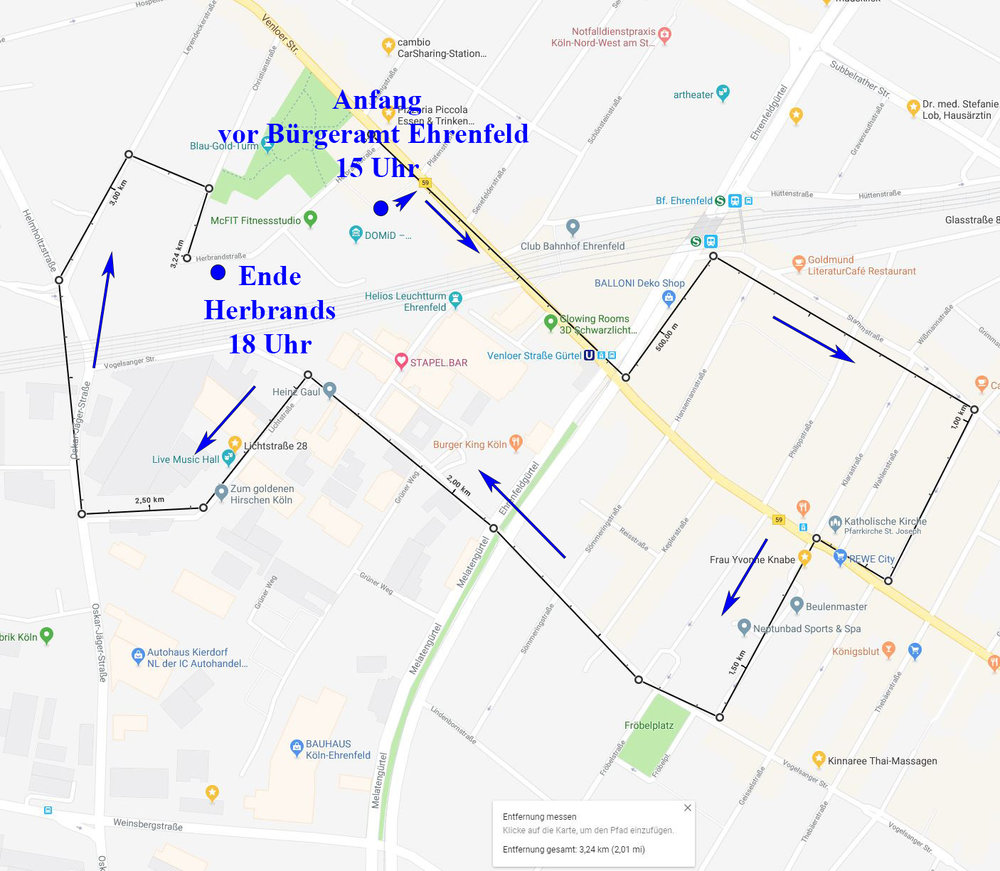Strecke Ehrenfeld
