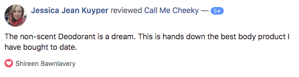 Stinky Bitch Deodorant Facebook review