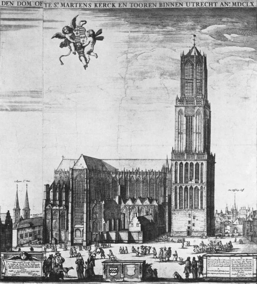 Dom Tower with the nave still standing, 1660.