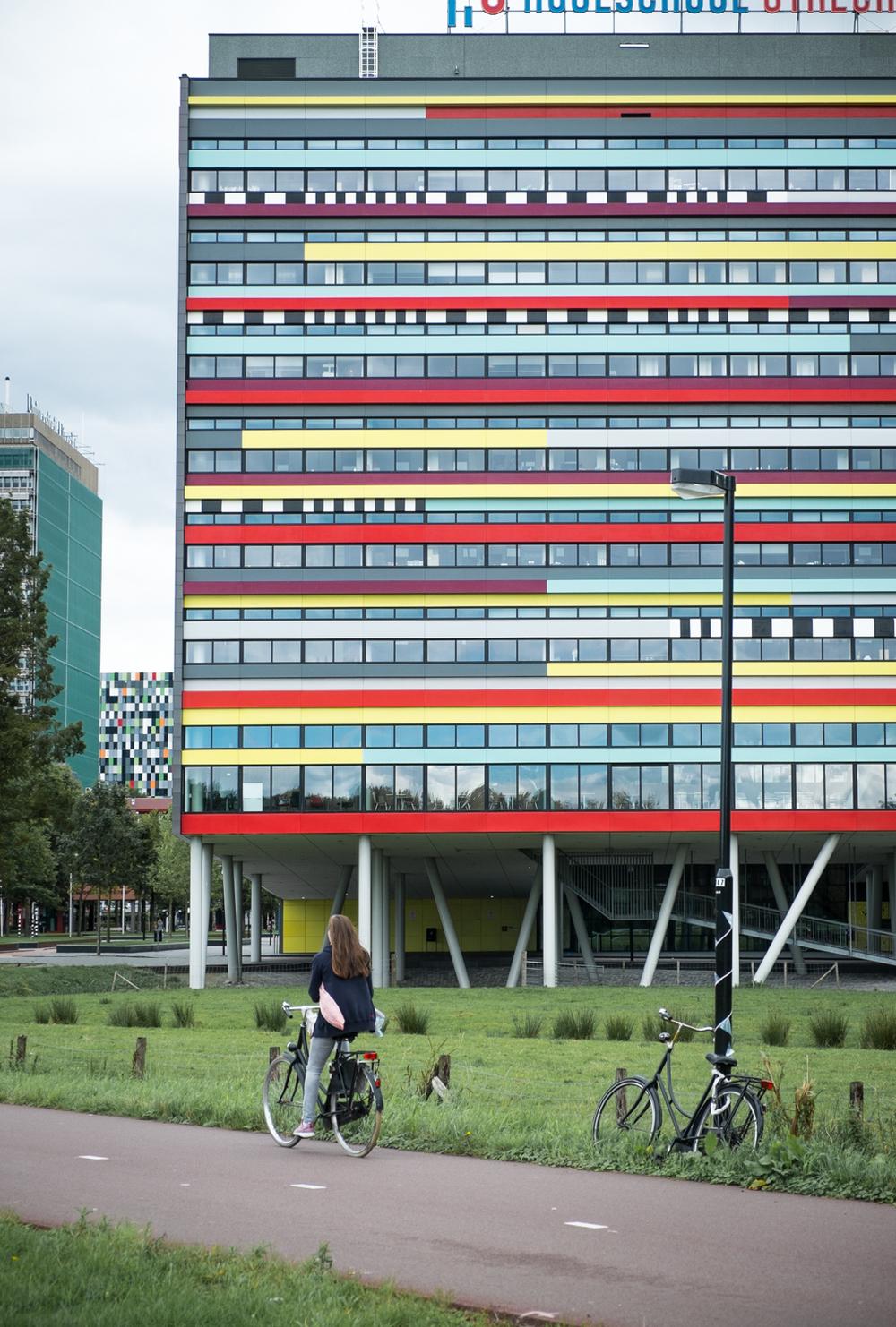Facade #1: Utrecht Hogeschool by Mecanoo Architects.